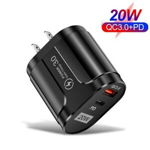 QC3.0 PD 20W Fast Quick Charge USB Type-C Wall Charger Adapter For iPhone 12 11