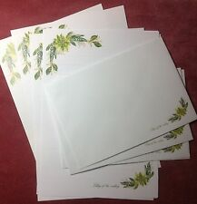 Lily of the Valley Flowers Lined Letter Writing Paper & Envelopes Stationery Set