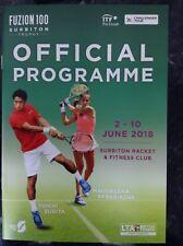 2018 Fuzion 100 Surbiton Trophy Programme: Men's & Women's Tennis: ATP & WTA