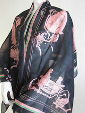 NWOT Auth Hermes Silk + Cotton Long Scarf Shawl