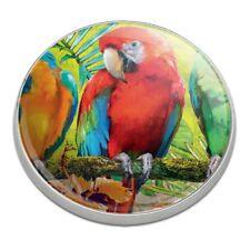 Colorful Tropical Rainforest Parrots Golfing Premium Metal Golf Ball Marker