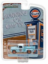 1:64 GreenLight *RUNNING ON EMPTY R1* GULF = 1963 Dodge D-100 Pickup Truck NIP
