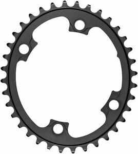 Silver Series Oval 110 BCD 4-Bolt Chainring - absoluteBLACK Silver Series Oval