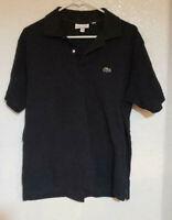 Lacoste Men's Short Sleeve Pique L.12.12 Classic Fit Polo Shirt, Black, 6/XL