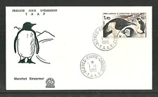 FRENCH ANTARCTIC 1985 BIRDS MARINE LIFE EMPEROR PENGUINS FIRST DAY COVER FDC