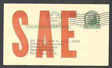 1950 PC Society Of Automotive Engineers-S A E-Mailed To Bureau Of See Info