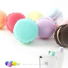 2pc Macaron Anti Dust Plug Cover Stopper for iPhone Samsung HTC Turquoise+Purple
