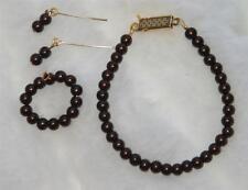 "BROWN PEARL Jewelry Set 14KGF CISSY 18-20"" Miss Revlon Sue Vintage Fashion Doll"