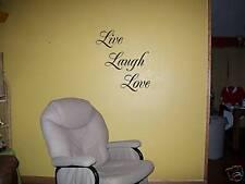 Live Laugh Love Vinyl Wall Decor Sticker Uppercase