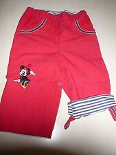 H & M Disney tolle Hose Gr. 86 rot mit Mickey Mouse !!