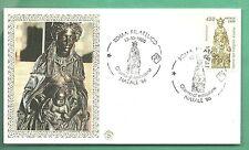 ITALIA BUSTA FILAGRANO GOLD 1986  NATALE DONATELLO MADONNA BAMBINO ANNULLO FDC