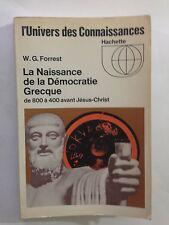 LA NAISSANCE DE LA DEMOCRATIE GRECQUE 1966 FORREST UNIVERS DES CONNAISSANCES
