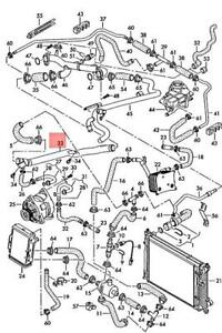 Genuine AUDI A6 allroad qu. quattro 4BH Coolant Pipe 079121070G