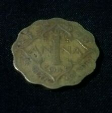 1 Anna 1943 King George VI Coin 100% Original. Rare