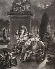 Moreau Jean-Michel le Jeune  Promenade du Soir  XVIII retirage XXe