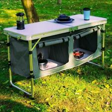 Mesas ajustáveis para camping