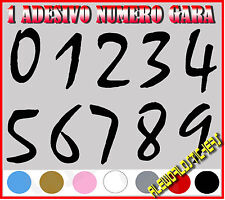 ADESIVO 12 cm NUMERO gara CORSA MOTO GP CROSS Stickers VINILE RACING TUNING F2