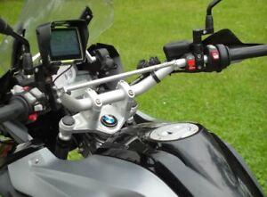BMW R 1200GS Adventure LC silver cross bar brace clamp handlebar