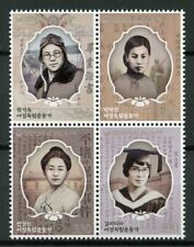 South Korea 2019 MNH Female Independence Activists 4v Block Famous People Stamps