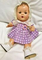 """Vintage 1930's Arranbee Dream Baby Doll 11.5"""" 12"""" ALL Composition RARE R&B w Pin"""