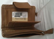 New Rolfs Women soft Leather wallet Seam Midi Triumph Tan Multi Function wallet
