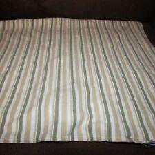 Disney kids baby receiving blanket green white tan stripes cotton knit pooh line