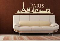 Wall Vinyl Sticker Bedroom Decal Paris France Skyline Town City (Z1003)
