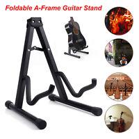 Portable Adjustable A-Frame Electric Guitar Floor Stand Holder Ukulele Violin