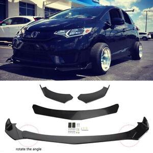 For Honda Fit Jazz GK5 GK3 GK Front Bumper Lip Splitter Spoiler Glossy Black HG