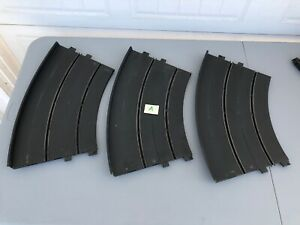 LOT OF THREE ELDON 1/24 SCALE PROFESSIONAL HOME SLOT CAR TRACK BANKED CURVES - A