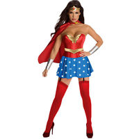 Hot!! Halloween Costume Wonder Woman Adult Superman Cosplay SuperHero M L XL XXL