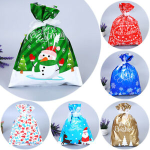 1×Christmas Candy Bag Gift Wrapping Bag Container Pack Xmas Holiday Party Pouch
