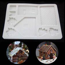 1Pcs Christmas House Xmas Cake Mold Chocolate Cookie Baking Mould DIY Decor Tool