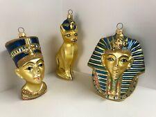 Kurt S. Adler Lot of Three (3) Polonaise Egyptian Ornaments