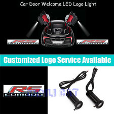 2x 3D RS Logo Car Door Welcome Projector LED Light for Chevrolet CAMARO Z28 ZL1