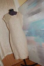 Raoul Gold Metallic Cashmere Blend Knit Dress Size M