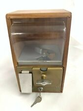 Remington Table Top Vending Machine Candy Marbles Feed Dispenser with keys