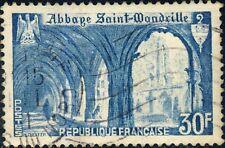 FRANCE - 1951 - Yv.888/Mi.906 30fr bleu clair Abbaye ST-Wandrille - Oblitéré B