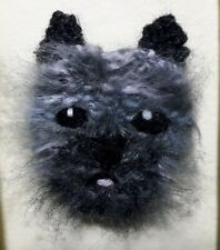 CAIRN TERRIER GREY KNITTED BROOCH