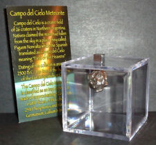 Argentina Meteorite with Display Cube! Real 7.7 gram Campo del Cielo Meteorite!