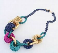 Choker Fashion Ethnic Collares Vintage Colorful Pendant Statement Necklace gift