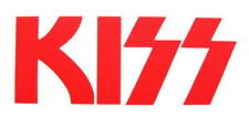 KISS AUFKLEBER / STICKER # 45 - RUB ON - RUBBEL - WETTERFEST -13x5 cm