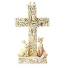 Jim Shore Great And Small He Loves Us All Woodland Cross with Animals 6006236