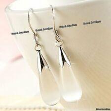 925 Silver Drop Moonstone Earrings Xmas Gifts For Her Wife Mother Daughter Women