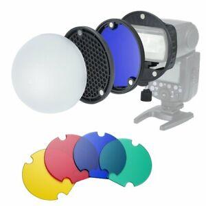 Camera Flash Speedlite Magentic Color Filter Reflector Honeycomb Grid Diffuser