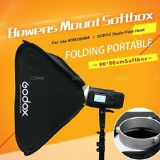 Godox  80x80cm  Folding portable Softbox Bowens Mount Studio Flash Strobe Light