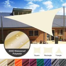 Outdoor Garden Patio Sun Shade Sail Canopy Awning Waterproof 98% UV Protected UK