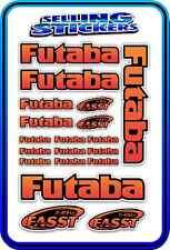FUTABA SERVO RADIO RX TX 2.4G FLIGHT REMOTE CONTROL STICKERS FASST RED ORANGE B