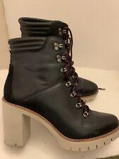 Ladies Black Leather Tommy Hilfiger Boots UK7.5