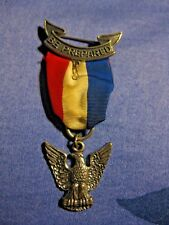 VINTAGE BOY SCOUTS OF AMERICA STERLING SILVER EAGLE SCOUT AWARD BADGE RIBBON PIN